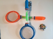 Magnifying Glass/Bug Catcher - Find bugs and catch them with tweezers and store in handle!